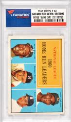 Hank Aaron / Eddie Mathews / Ernie Banks Milwaukee Braves / Chicago Cubs 1961 Topps #43 Card