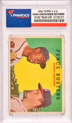 Hank Aaron / Eddie MAthews Milwaukee Braves 1959 Topps #212 Card