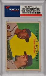 Hank Aaron / Eddie Matthews Milwaukee Braves 1959 Topps #212 Card