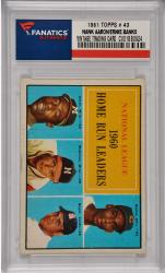 Hank Aaron / Ernie Banks / Eddie Matthews Milwaukee Braves / Chicago Cubs 1961 Topps #43 Card