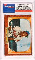 Hank Aaron Milwaukee Braves 1955 Bowman #179 Card