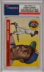 Hank Aaron Milwaukee Braves 1955 Topps #47 Card