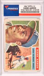 Hank Aaron Milwaukee Braves 1956 Topps #31 Card