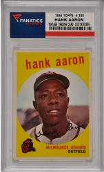 Hank Aaron Milwaukee Braves 1959 Topps #380 Card