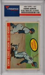 Hank Aaron Milwaukee Braves 1959 Topps #467 Card