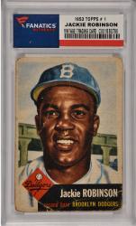 Jackie Robinson Brooklyn Dodgers 1953 Topps #1 Card