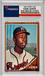 Hank Aaron Milwaukee Braves 1962 Topps #320 Card
