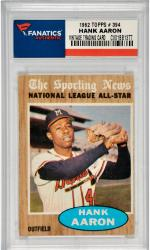 Hank Aaron Milwaukee Braves 1962 Topps #394 Card