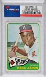 Hank Aaron Milwaukee Braves 1965 Topps #170 Card