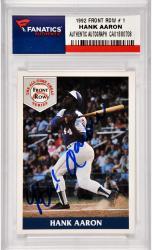 Hank Aaron Milwaukee Braves Autographed 1992 Fron Row #1 Card