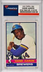 Hank Aaron Milwaukee Brewers 1976 Topps #550 Card