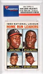 Hank Aaron / Willie Mays / Willie McCovey Milwaukee Braves & San Francisco Giants 1964 Topps #9 Card