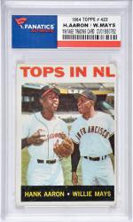 Hank Aaron/Willie Mays Mikwaukee Braves-Sab Francisco Giants 1964 Topps #423 Card