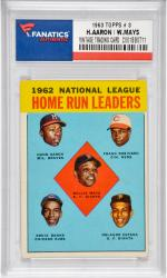 Hank Aaron/Willie Mays Milwaukee Braves/San Francisco Giants 1963 Topps #3 Card