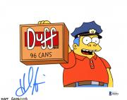 "Hank Azaria Autographed 8"" x 10"" The Simpsons Chief Wiggum Photograph - Beckett COA"