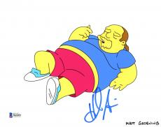 "Hank Azaria Autographed 8"" x 10"" The Simpsons Comic Book Guy Photograph - Beckett COA"