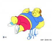 "Hank Azaria Autographed 8"" x 10"" The Simpsons Comic Book Guy Photograph - Beckett COA"