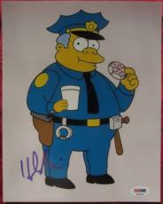 Hank Azaria signed 8x10 photo Chief Wiggum Voice Simpsons PSA/DNA autograph
