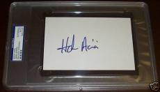 Hank Azaria Signed Auto'd RARE Index Card PSA/DNA Slab