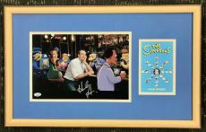 HANK AZARIA- The Simpsons- signed 8x10 custom framed display- FSC COA