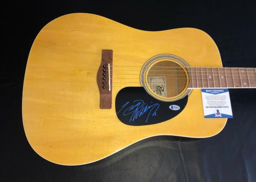 Hank Williams Jr Signed Auto Acoustic Rougue Full Size Guitar Beckett Bas Coa 2
