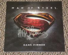 Hans Zimmer Signed Superman Man Of Steel Soundtrack Vinyl Lp Exact Proof Coa