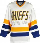 Jack Hanson, Steve Hanson, Jeff Hanson Autographed White Jersey