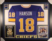 HANSON BROTHERS AUTOGRAPHED FRAMED CHEIFS JERSEY with JSA WITNESSED COA