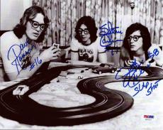 Hanson Brothers Autographed Signed 8x10 Photo Chiefs Slap Shot Psa/dna