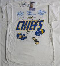 Hanson Brothers Signed Chiefs Slap Shot Autographed T-Shirt JSA #T21267