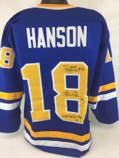 Hanson Brothers signed Slap Shot autograph Hockey jersey Beckett witness 3 autos