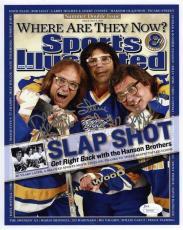 Hanson Brothers Slap Shot Autographed Signed 8x10 Photo Authentic JSA COA
