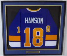 Hanson Brothers Slapshot Autographed Framed Chiefs Jersey 3 Sigs Psa 131931