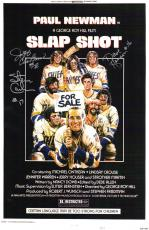 Hanson Brothers Triple Signed Slap Shot 11x17 Movie Poster