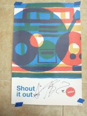 Hanson Shout It Out Signed Autographed 16x24 Poster #331/600 PSA Guaranteed
