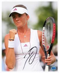 "Daniela Hantuchova Autographed 8"" x 10"" Holding Racket Nike Visor Photograph"