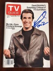 """Happy Days, """"Autographed"""" TV Guide, The Fonz - Henry Winkler"""
