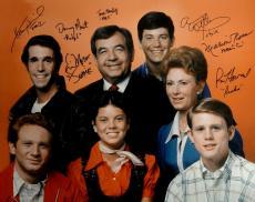 Happy Days Cast Signed 16x20 Photo Ron Howard Tom Bosley Erin Moran Winkler COA