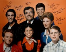 Happy Days Cast Signed 16x20 Photo Ron Howard Tom Bosley Henry Winkler Ross COA