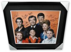Happy Days Cast Signed 16x20 Photo Ron Howard Tom Bosley Moran Winkler + Framed