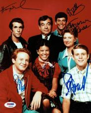 Happy Days Cast Signed Authentic 8x10 Photo Winkler,Howard + 4 PSA/DNA #S06996