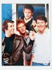 Happy Days Cast Signed Autographed 11x14 Photo Winkler Howard + 2 (PSA/DNA)