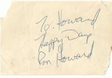 HAPPY DAYS Ron Howard Signed Auto 4x3 Album Page PSA DNA Sticker  TOUGH  F5