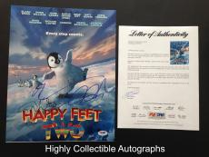 Happy Feet Two Cast Signed 11x14 Photo Elijah Wood Robin Williams Autograph Psa