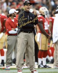"Jim Harbaugh San Francisco 49ers Autographed 8'' x 10"" Photograph - Mounted Memories"