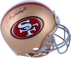 Jim Harbaugh Signed Helmet - Riddell Pro Line Authentic Mounted Memories
