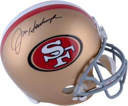 Jim Harbaugh San Francisco 49ers Autographed Riddell Replica Helmet - Mounted Memories  - Mounted Memories