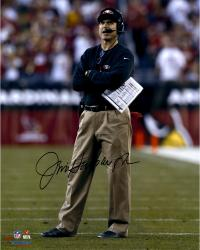"Jim Harbaugh San Francisco 49ers Autographed 16"" x 20"" Arms Crossed Photograph"