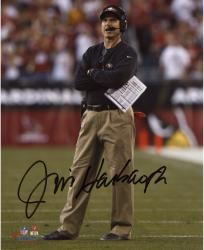 Jim Harbaugh San Francisco 49ers Autographed 8'' x 10'' Arms Crossed Photograph - Mounted Memories  - Mounted Memories