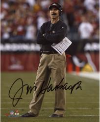 "Jim Harbaugh San Francisco 49ers Autographed 8"" x 10"" Arms Crossed Photograph"